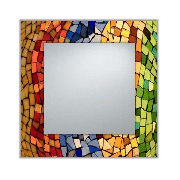 Espejo decorativo moderno a medida mosaico 001 for Mosaicos para espejos