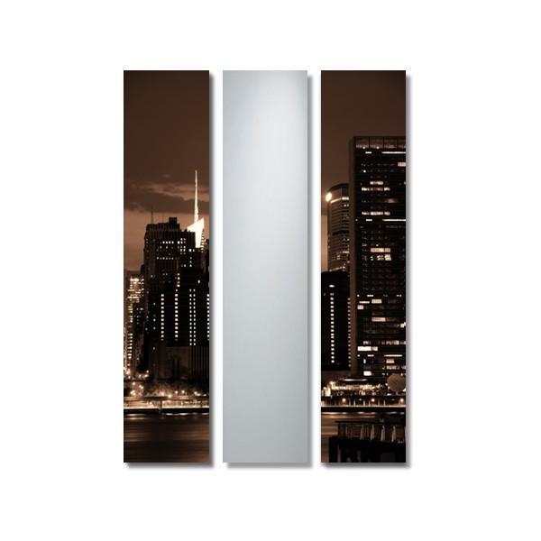 Cuadro espejo tr ptico new york 001 for Miroir new york conforama